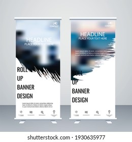 Creative business vector roll up banner design