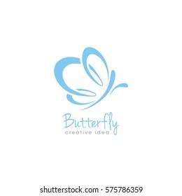 Creative Butterfly Concept Logo Design Template