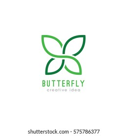 Creative Butterfly Concept Logo Design Template