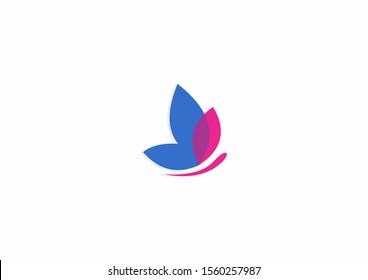 Creative Butterfly vector logo template. Beauty salon - sign creative illustration.