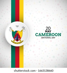 Creative cameroon national day illustration with unique Cameroon flag vector background.