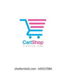 Creative Cart Concept Logo Design Template