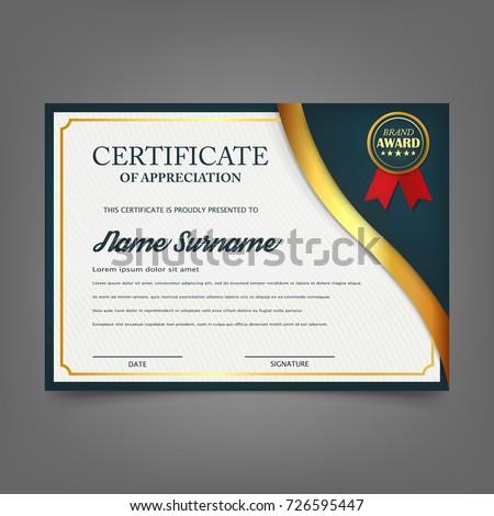 Creative Certificate Appreciation Award Template Certificate Image