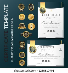 Creative certificate template with luxury and modern pattern,diploma,Vector illustration