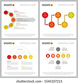 Creative chart set for management or communication concept. Can be used for business project, annual report, web design, presentation slide templates. Flowchart, process, option, step diagram