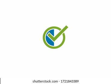 Creative check business vector logo design concept