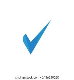 Creative check mark icon template vector