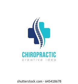 Creative Chiropractic Concept Logo Design Template