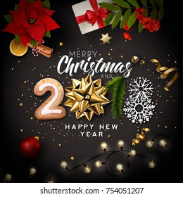 Creative Christmas And New Year Design Background 2018