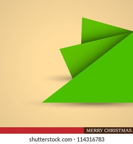 Creative Christmas tree formed from pieces of paper. Vector eps10