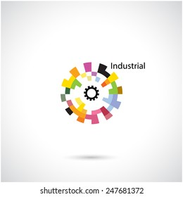 Creative circle abstract vector logo design template. Corporate business industrial creative logotype symbol.Vector illustration