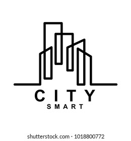 Creative City Smart logo detailing in white background