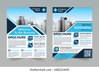 Creative and Clean abstract Business vector template for Brochure design, cover modern layout, poster, flyer in A4  for using personal or marketing purposes