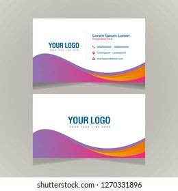Creative and Clean Business Card Template, Vector Illustration. Stationery Design - Vector
