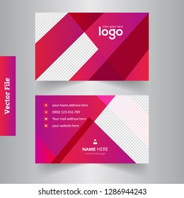 Creative and Clean Business Card Template. Flat Design Vector Illustration. Abstract Design - Vector