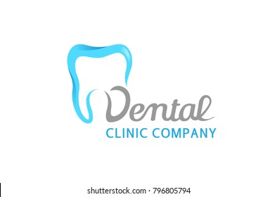 Creative Clean Teeth Dental Text Logo Design Symbol Illustration