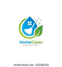 Creative Cleaning Concept Log Desing Template