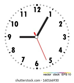 clock face blank stock vector royalty free 222284911 shutterstock