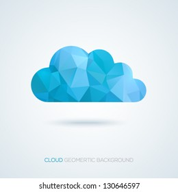 Creative cloud background for your business. Vector illustration.