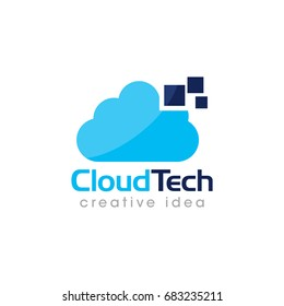 Creative Cloud Concept Logo Design Template