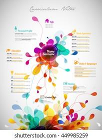 Creative, color rich CV / resume template.