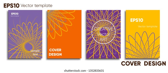 Creative colored cover. Cover design. Cool background.