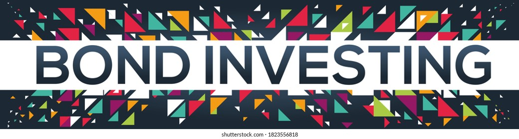 creative colorful (Bond Investing) text design, written in English language, vector illustration.