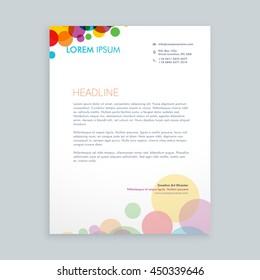 creative colorful circles letterhead design