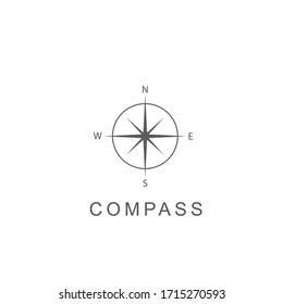 Creative Compass. Concept Logo. Design Template. Stock vector illustration