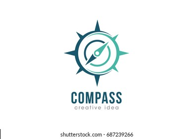 Creative Compass Concept Logo Design Template