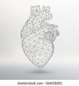 Creative concept Background of the human heart. Vector Illustration eps 10 for your design.
