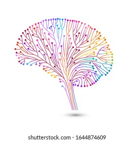 Creative concept of the human brain, eps10 vector illustration