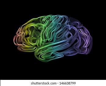 Creative concept of the human brain, vector, easy editable
