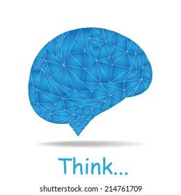 Creative concept of the human brain, vector illustration
