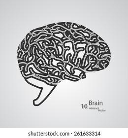 Creative concept of the human brain,  vector elegant illustration