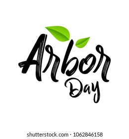 Creative concept illustration for Arbor Day Celebrations. Can be used for poster, banner, backgrounds, icon, logo, greetings, print, cards, and labels with tree elements.