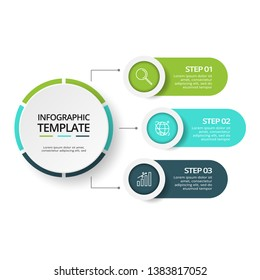 Creative concept for infographic with 3 steps, options, parts or processes. Business data visualization. Vector business template for timeline presentation.