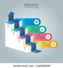 Creative concept for infographic with 4 options, parts or processes. Timeline infographic business design and marketing icons for presentation, annual report, diagram, workflow layout and web design.