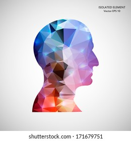 Creative concept vector silhouette for Web and Mobile Applications isolated on background. Vector illustration, creative template design, Business software and social media.