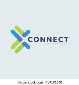 Creative connect logo design