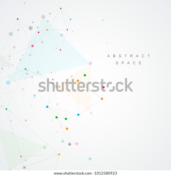 Creative Connection Points Lines Abstract Network Stock