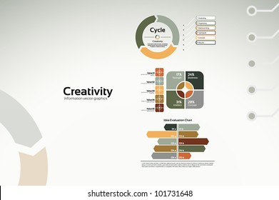 Creative corporate graphs and diagrams for reports and presentations