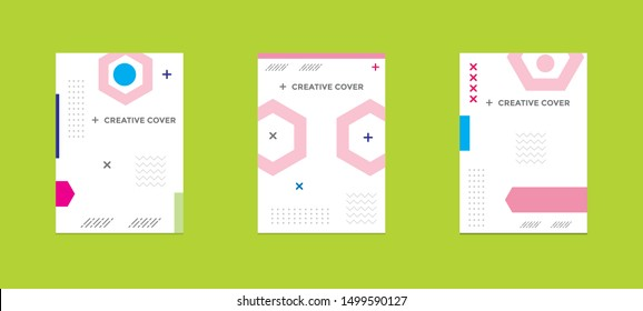 Creative cover design in Geometric style. minimal. can be used for backgrounds, banners, posters, leaflets, leaflets, web templates,