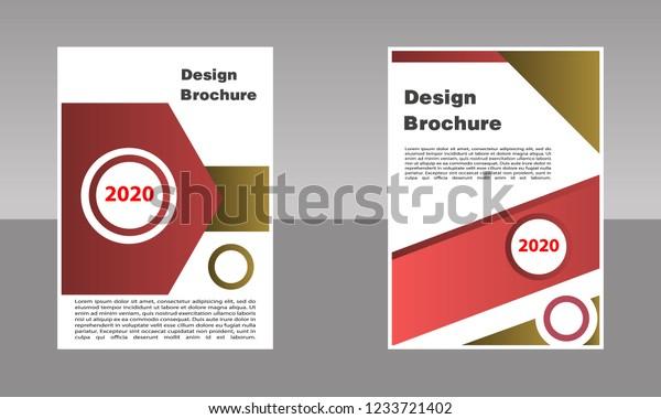 Creative Cover Layout Brochure Magazine Catalog Stock Vector