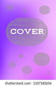 Creative Cover Page Vector Layout For Leaflets Blurred Decorative Color In Abstract