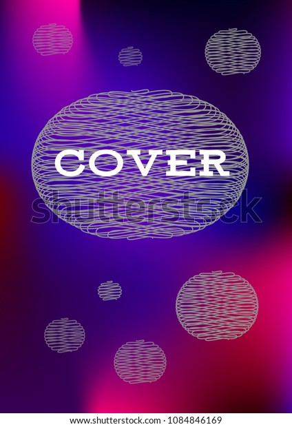 Creative Cover Page. Vector Layout for Leaflets. Blurred Decorative Creative Color Page in Abstract Style with Text Box. Vector Pattern for Posters. Nice A4 Color Sample.