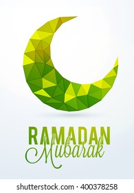 Creative Crescent Moon for Islamic Holy Month, Ramadan Mubarak, Can be used as Pamphlet, Banner or Flyer design.