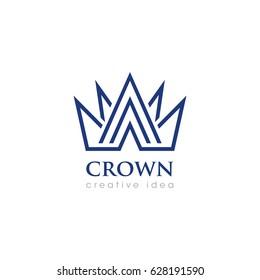 Creative Crown Concept Logo Design Template