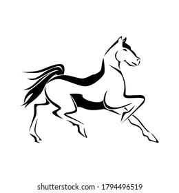Creative dancing horse illustration art