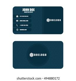 Creative Dark Business Card